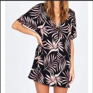 Amuse Society Bird in Paradise dress Large NWT